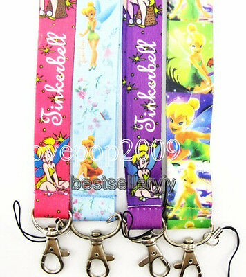 wholesale 50 Pcs Disney Tinkerbell mobile Phone lanyard Keychain straps charms