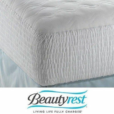 Beautyrest Mattress Pad Polyester Cotton Top Protector Cover Bed Bedroom Sleep