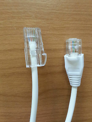 BT MALE TELEPHONE CONNECTOR 431a to RJ45 1.0M CABLE LEAD FOR ETHERNET CAT5