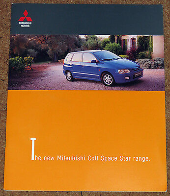 1998 MITSUBISHI SPACE STAR Large Format Sales Brochure