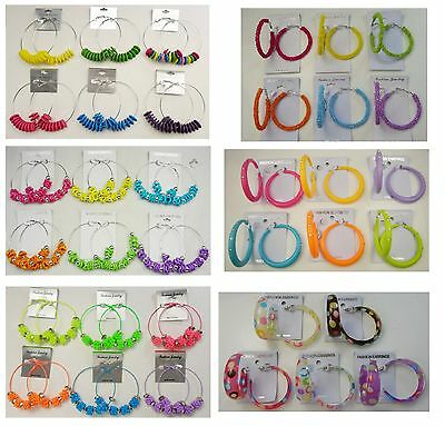 A-50 Wholesale Jewelry lot 10  pairs Colorful Fashion Hoop Earrings