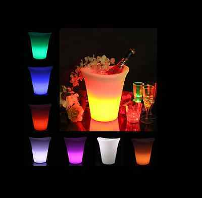 Rgb Colour Ice Bucket Multi Coloured With Remote And Rechargble