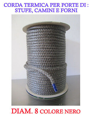 Fire Rope/Joint/Dichtschnur Diam 6 For Wood Stoves And Fireplaces Res Up To 550°