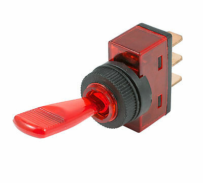 Red On/Off Duckbill Toggle Switch 12V LED Car Dash Dashboard Boat SPST