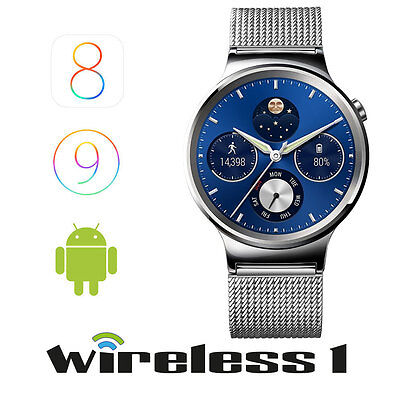 Huawei W1 Stainless Steel with Mesh Band Silver
