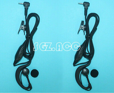 2x Clip-Ear Headsets for Uniden Radios UH038SX  UH041SX  UH041P