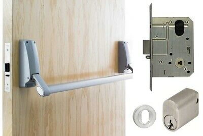 Briton Exit Door Pack B379 Panic Bar MS2 Mortice Lock Key Entry Access Only