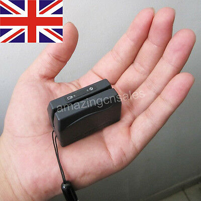 Mini DX3 Portable Magnetic Stripe Card Reader Data Collector Credit Magstripe UK