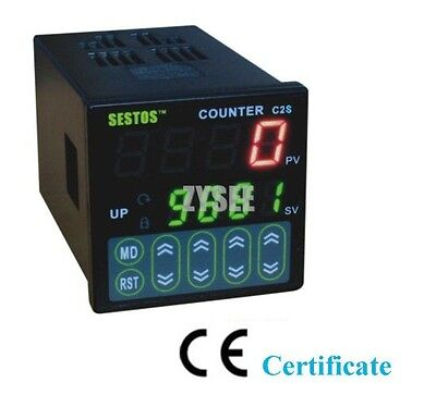 New 4 Digital Preset Scale Counter Digital Counter 100-240V Relay