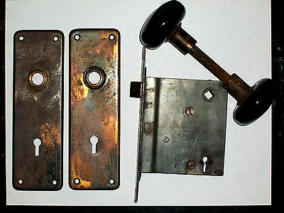 Antique Russel & Erwin Mortise Lock Set