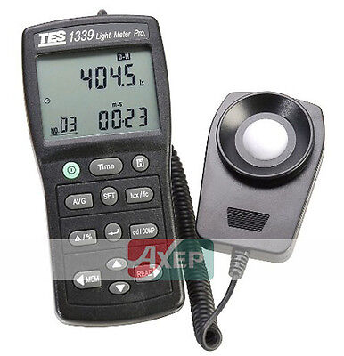 TES-1339R Data Logger Light Meter Pro Luxmeter Connect Computer EMH128 TES1339R
