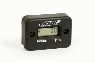 RHK Mx Hour Meter Black Motocross Dirt Bike Parts Motorbike Jetski