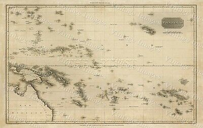 GIANT 1813 PINKERTON'S MAP OF POLYNESIA ISLANDS OLD ANTIQUE STYLE MAP art print