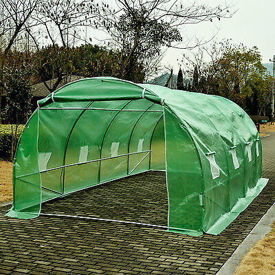 6 x 3 x 2m Garden Dome Polytunnel Greenhouse Plastic Plant Green House