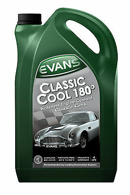 EVANS WATERLESS COOLANT. CLASSIC COOL 180 - 5 Litre Race / Rally / Classic Car