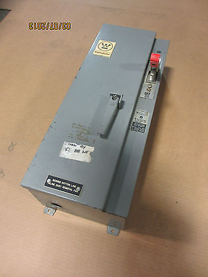 Westinghouse Size 0 Fusible 30 A. 600 V. Combination Starter A206JOMAA--C