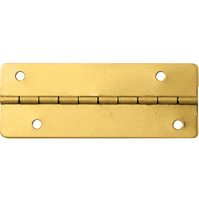 "Brass-Plated Small-Box Fastener Hinges 2""L x 3/4""W"
