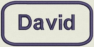 Embroidered Name for Uniform, work Shirt - David