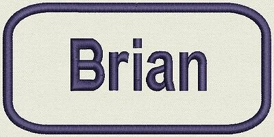 Embroidered Name for Uniform, work Shirt - Craft project  Brian