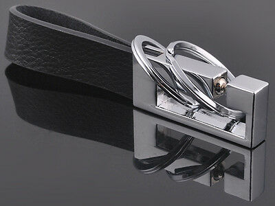 HJ Leather Double Keyring Elasticity Top Grade Men Waist Keycha Classic 3D Gift