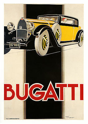 007 Vintage Advertising Transport  Art  Bugatti