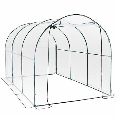 3.5 x 2m Garden Dome Polytunnel Greenhouse Plastic Plant Green House