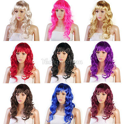 New Sexy Womens Long Curly Full Wig Party Cosplay Fancy Dress Costume Wigs