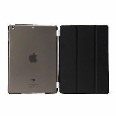 Black Clear Smart Cover and Hard Back Case for Apple New iPad 4 3 2