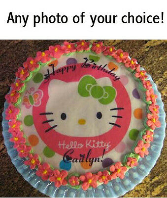 "CUSTOM 7.5"" Round Edible Photo CAKE Topper ICING Image Party Decoration"