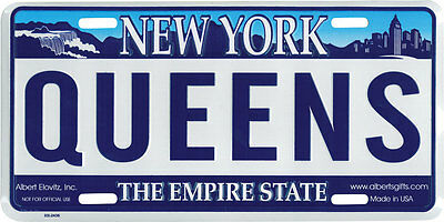 """Queens"" New York NY Novelty License Plate"