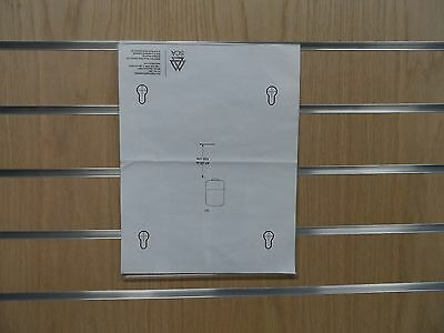 Lot of 5 Clear Acrylic 8x11 Top Load Slatwall Sign Holders