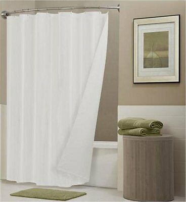 Pure White Shower Curtain 2.4m Long FREE SHIPPING New