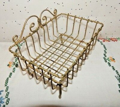 Antique Twisted Wire Soap Dish/Basket~Vintage Country Style~Sweet Little Prim