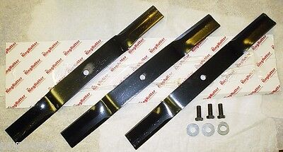 King Kutter / County Line 5' Finish Mower Blade Set w/ Bolts - 3 Blades 502320