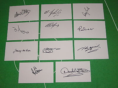 Glasgow Rangers 1972 European Cup Winners Cup Final Starting 11 Signed Cards