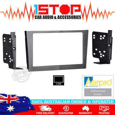 GREY DOUBLE-DIN DASH FACIA FASCIA KIT PANEL for HOLDEN ASTRA AH SERIES 2004-2009