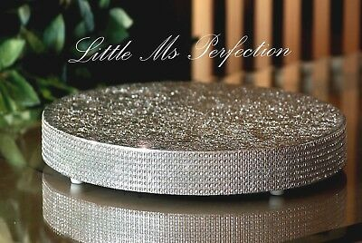 """Diamante Crystal Wooden Cake Stand Board Wedding  Display Silver Gold  12""""  22"""""""