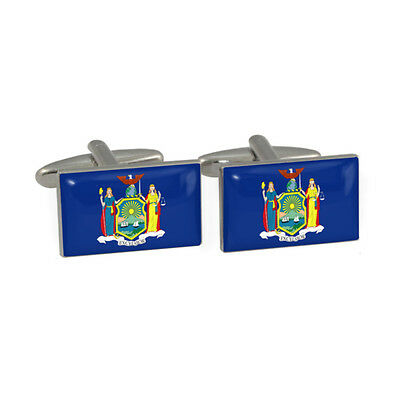 New York State Flag Cufflinks NYC empire state NY new yorker New & Boxed