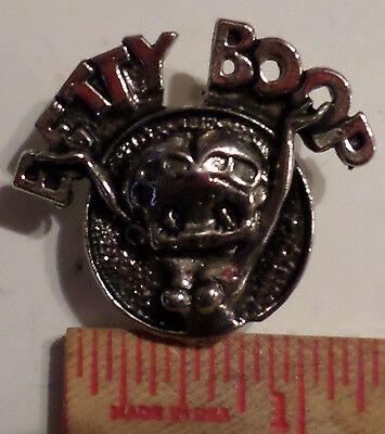 Vintage Betty Boop pin collectible old cartoon character biker pinback
