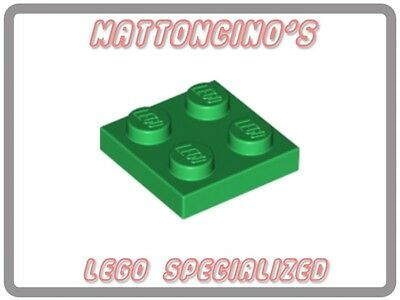 LEGO 4x 3022 Green Plate 2 x 2 NEW