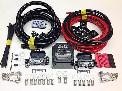 5mtr Split Charge Relay Kit 12v 140amp Intelligent M-Power Relay 110amp Cables