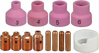 WP-24 TIG Welding Torch Consumables KIT 53N14 Collet Body Alumina nozzle,13PK