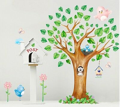 Large 150cm birds home Removable Wall Sticker nursery room baby kid wallpaper