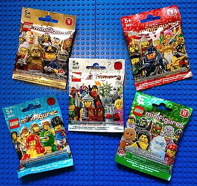 LEGO Minifigures Mystery Packs bundle, Series 5, 6, 7, 9, 11, New Sealed RETIRED