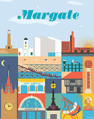 067 Vintage Travel Poster Art Margate *FREE POSTERS