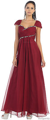 99ba2db5ea Formal Evening Gown Flowy Cap Sleeve Mother Of The Bride Dress & Plus Size