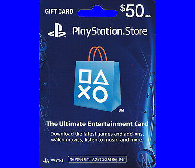$50 US PlayStation Network Store PSN Gift Card for PS4, PS3, PS VITA, PSP -FAST!