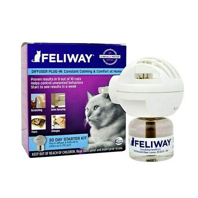 Feliway Diffuser Set with 48mL Bottle - Pheremone for Cat Anxiety - Genuine