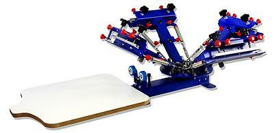Table Type 4 Color Silk Screen Printing Press Printer DIY Shirt Process Machine