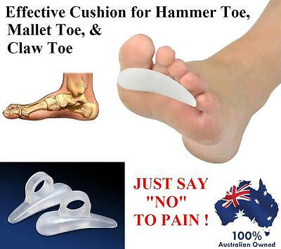 Silicone Gel Cushion Pad Claw Hammer Mallet Toe Bunion Support Foot Pain Relief